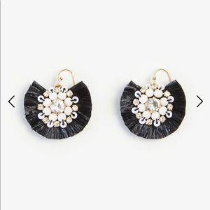 Ann Taylor Sparkle Raffia Drop Earrings